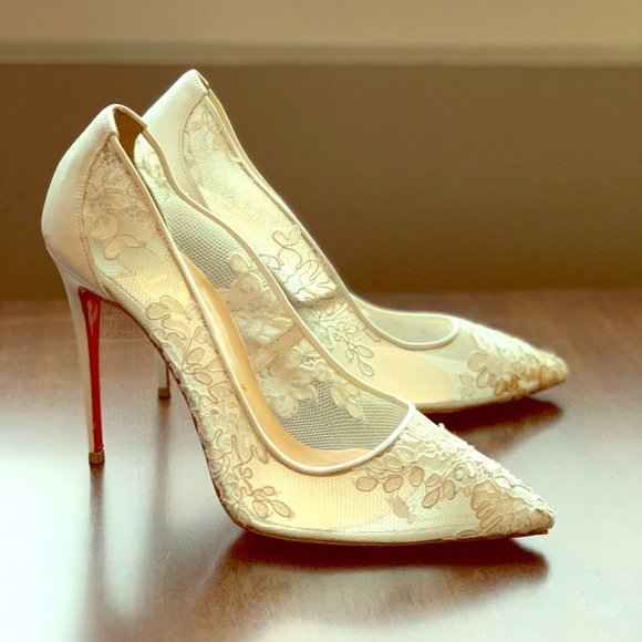 6621992e3863 Christian Louboutin Shoes - Christian Louboutin white lace follies